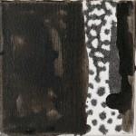 """Essences Binaires n15 "" 20x20 cm ink&acrylic on canvas 2010"